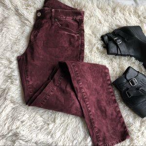 Denim & Supply Acid Washed Scent Red skinny jeans